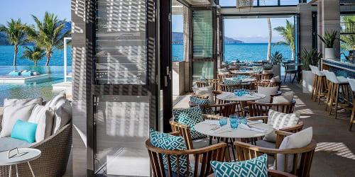 Chairs by SATARA seen at Hayman Island, Hayman Island - Skal Kitchen and Bar stool by SATARA