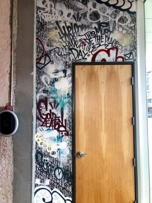 Murals by Stikki Peaches seen at SPIN San Francisco, San Francisco - Door Mural
