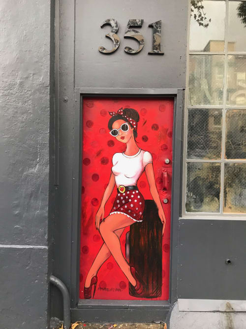 Street Murals by Amandalynn seen at 351 Valencia St, San Francisco - Classy Girl