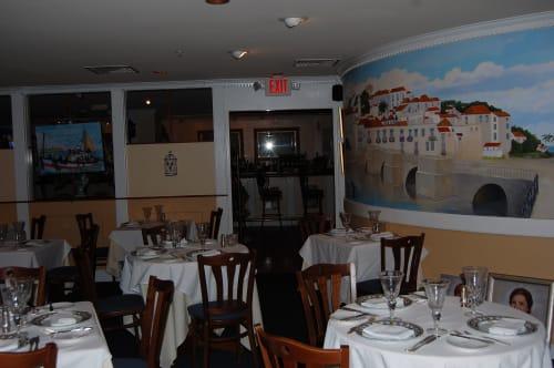 Murals by Abraham Art Impressions seen at Tavira Restaurant, Chevy Chase - Tavira Mural