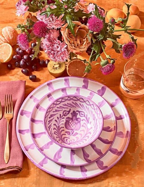 Ceramic Plates by Pomelo Casa seen at Los Angeles, Los Angeles - Casa Lila Collection
