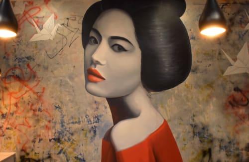 """Grit & Grace""   Murals by Nicolette Atelier   YUME SUSHI in Arlington"