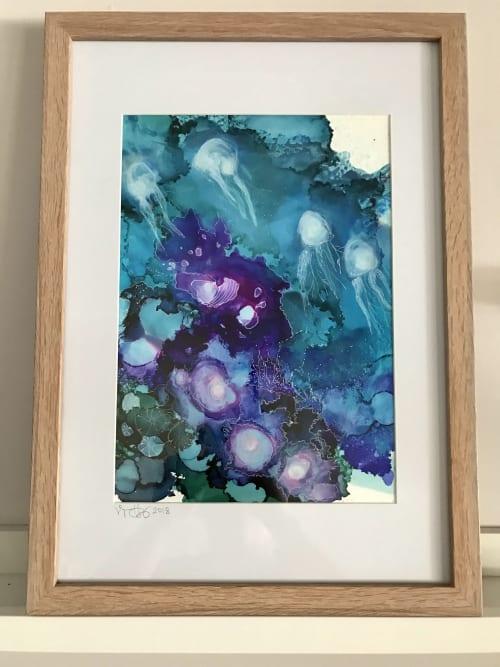 Paintings by Virginia Harding seen at Private Residence, Kotara - Underwater Ink II