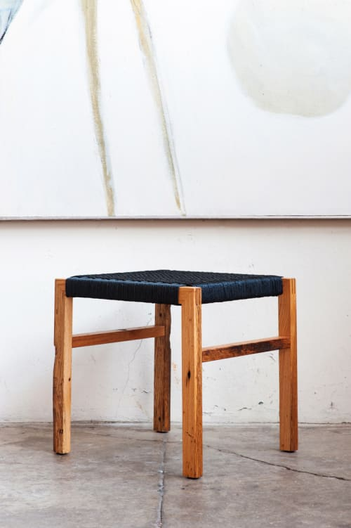 Chairs by Bohnhoff Furniture and Design seen at Private Residence, Richmond - Danish Corded Stool
