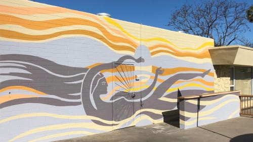 Murals by Natalie Bessell seen at Cruisers Gourmet Subs, San Diego - La Sirena