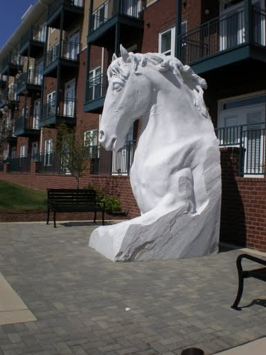 Sculptures by John Fisher Sculptures seen at Monument Drive, Fairfax - Camden Horse
