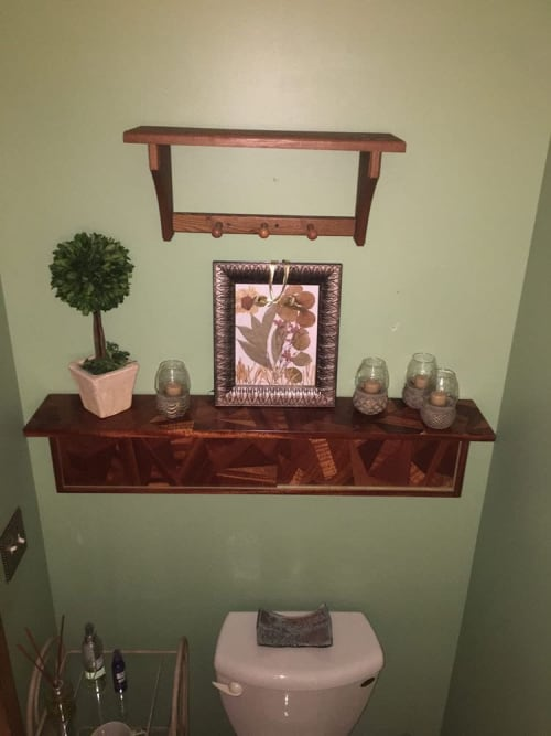 Furniture by Chelsea Van Voorhis seen at Private Residence, Madison - Mahogany Hanging Shelf