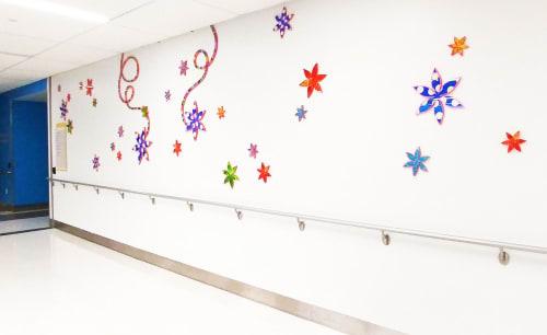 Sculptures by Virginia Fleck seen at University Hospital - University Health System, San Antonio - Enchanted Vine