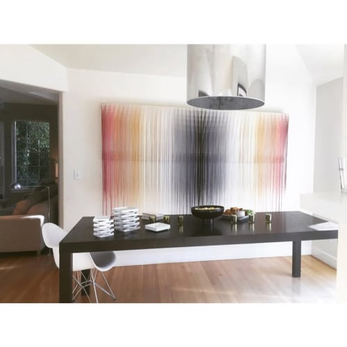 Wall Hangings by Nike Schroeder Studio seen at Private Residence, San Francisco - Custom Fiber Art