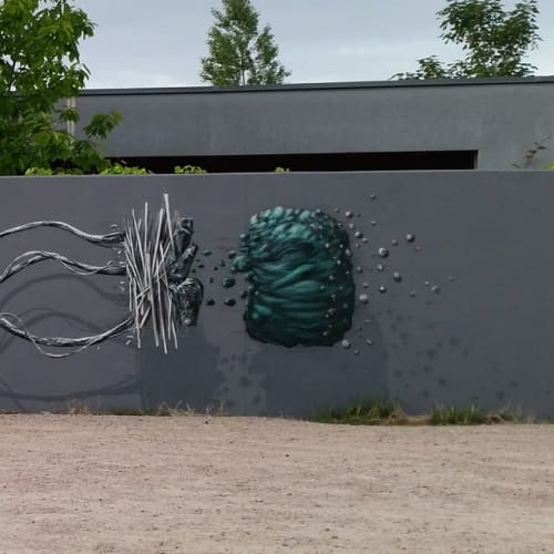 Street Murals by David Stegmann seen at Grunern, Staufen - Witness the Fitness