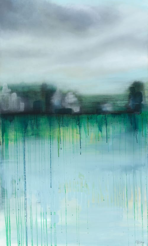 Paintings by Marine Gueguen Strage seen at Belvedere Tiburon, Tiburon - Emerald City Paintings