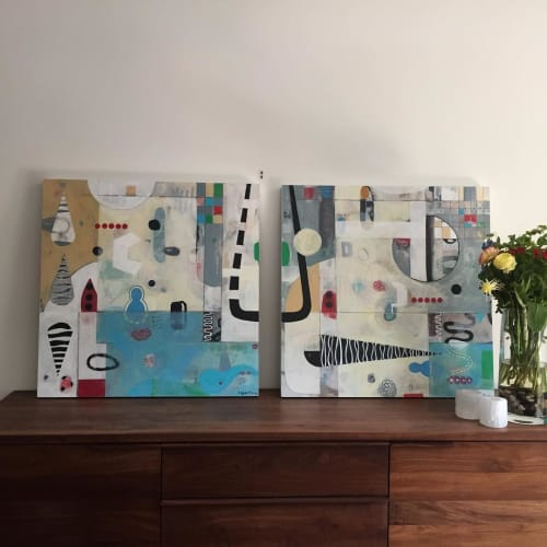 """Paintings by Magdalena Bogart seen at Private Residence - """"Settling In and at Home"""" Painting"""