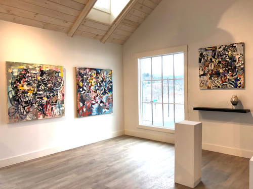 Art Curation by Galen Cheney seen at Edgewater Gallery, Stowe - Solo exhibition of paintings