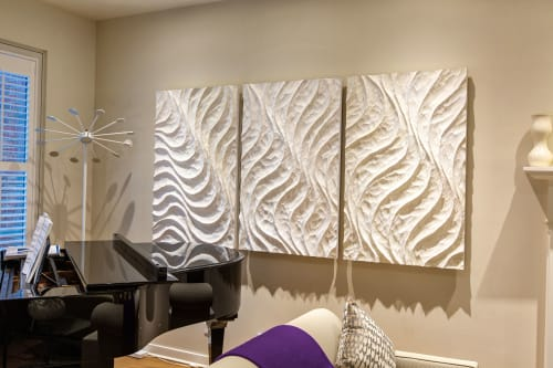 Wall Hangings by Joseph Graci seen at Private Residence, Chicago - White Wave