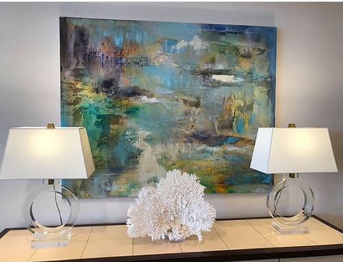 Paintings by Anne B Schwartz seen at Kreiss Home Furnishings, West Hollywood - 231 Crystaline Forest