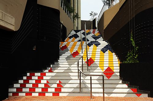 Public Mosaics by Parts & Labour seen at Johannesburg, Johannesburg - Colourway in Sandton