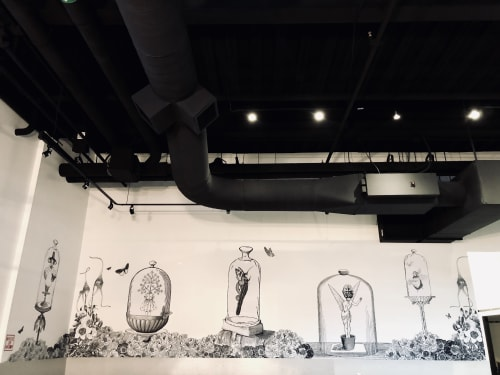 Murals by Made of Hagop at Aviano Coffee Cherry Creek North, Denver - Incubation Cycle