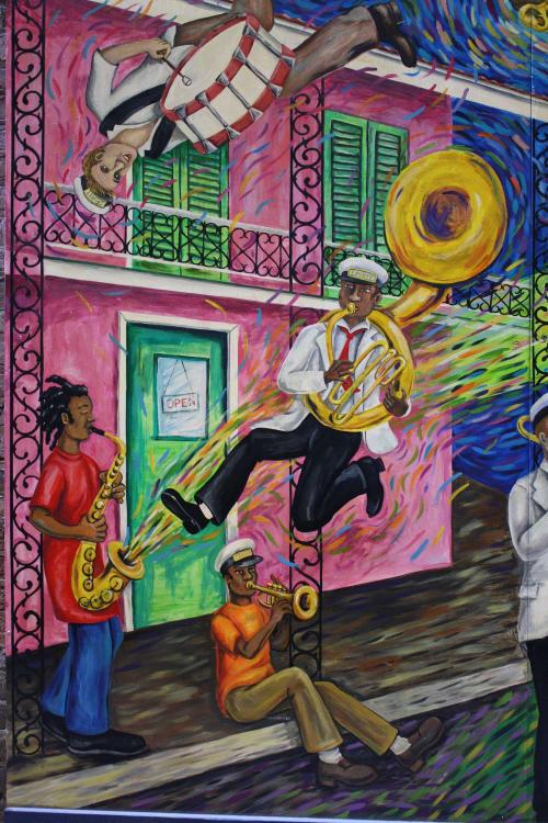 "Murals by Max Bernardi Art & Murals seen at New Orleans, New Orleans - ""Canvas of the Imagination"" mural"