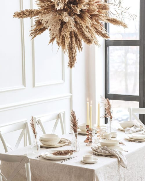 Ceramic Plates by Mr. Bowl Ceramics seen at Private Residence, Vilnius - Rustic Off White collection