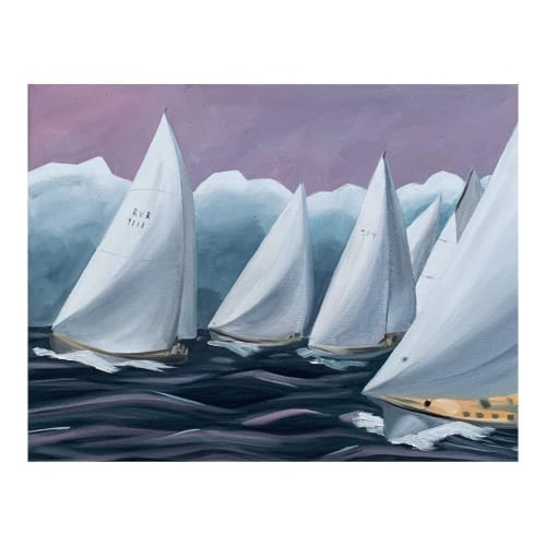 """Paintings by Lily Keller seen at Martha's Vineyard - """"Chasing the Storm"""""""