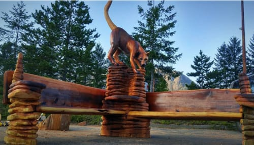 Art Curation by Toso Wood Works seen at Private Residence, Gold River - Cougar Bench