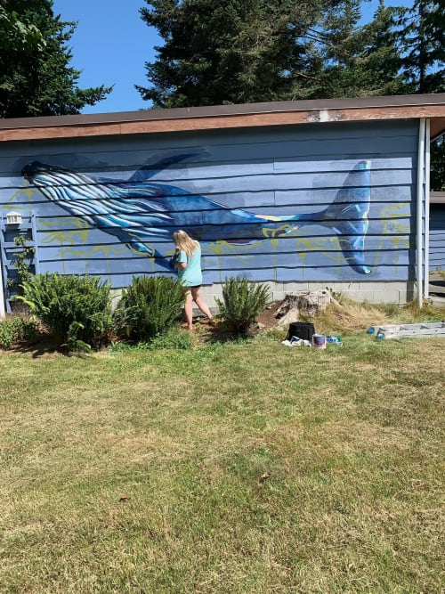 Murals by Lisa Joan seen at Private Residence, Courtenay - Wildlife mural