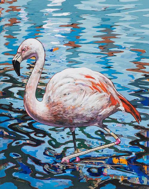 Paintings by David Palmer Studio seen at Pasadena, Pasadena - Flamingos #2