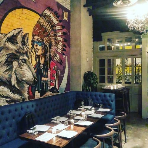 Murals by Phill Bourque at Blacksmiths Restaurant - DTLA, Los Angeles - Native