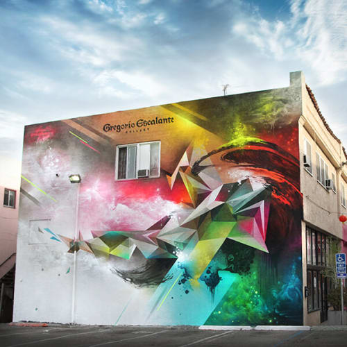 Street Murals by Mikael B seen at 978 N. Chung King Road, Los Angeles, CA, Los Angeles - Reality Shift