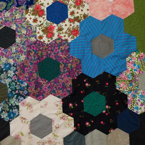 Flower Power Quilt   Linens & Bedding by DaWitt