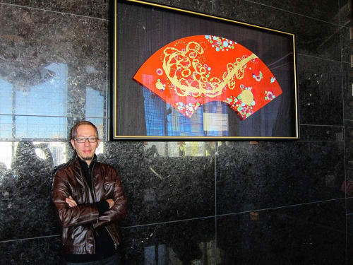 Paintings by Eric Jiaju Lee Studio seen at Waldorf Astoria Las Vegas, Las Vegas - The Moment of Yuanfen 1