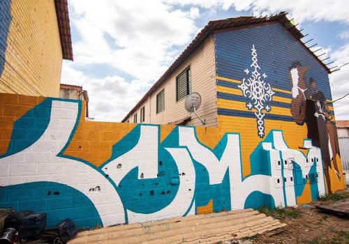 Street Murals by Comum seen at Granja de Freitas, Granja de Freitas - Ganja de Freitas