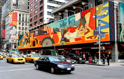 Public Mosaics by Stephen T. Johnson seen at 347 Madison Ave, New York - MTA Subway Art Card