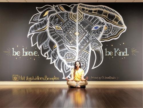 Murals by Jasmin Pannu seen at Brampton, Brampton - Hot Yoga Studio Mural by Jasmin Pannu