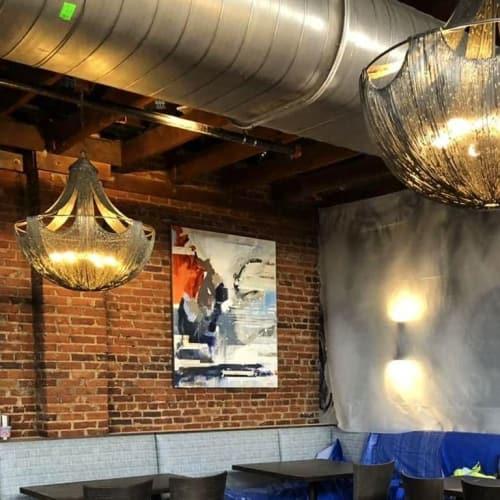 Paintings by Kym De Los Reyes Art at Hendrix Restaurant, Columbia - Don't Gloat