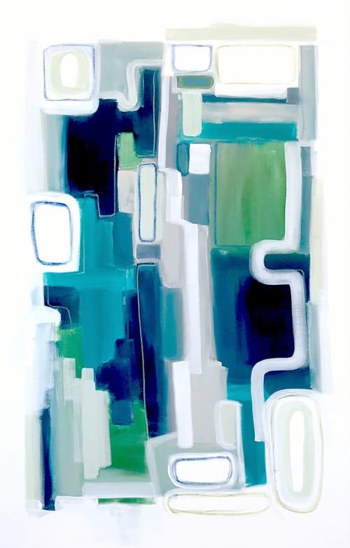 Paintings by Linnea Heide contemporary fine art seen at Asheville, Asheville - 'MYKONOS' original abstract painting by Linnea Heide