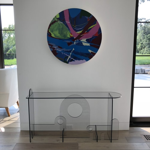 Interior Design by PHAEDO seen at Private Residence, Boston - Lexan Console Table