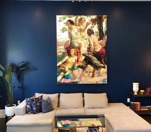 Paintings by Angela Fraleigh seen at Private Residence, New York - Once you have tasted flight you will forever walk with your eyes turned skyward