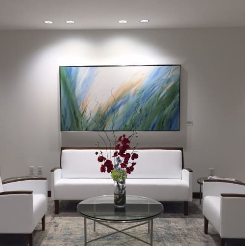 Paintings by Michael Ireland seen at MG+M The Law Firm, Boston - Wind Never Sleeps