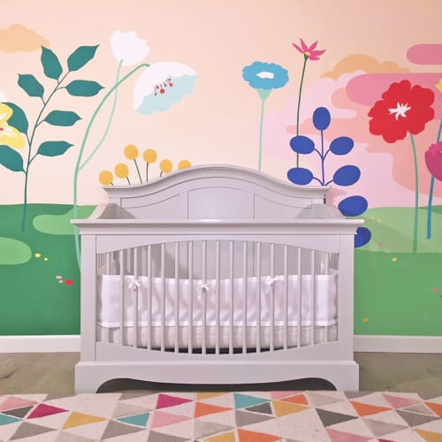 Murals by Shannon Geis Murals seen at Private Residence, Hillsborough - Baby Room Mural