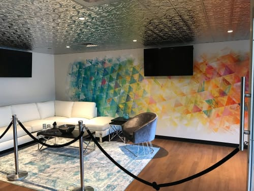 Murals by Remoteroc seen at Hard Rock Stadium, Miami Gardens - Club Liv Mural