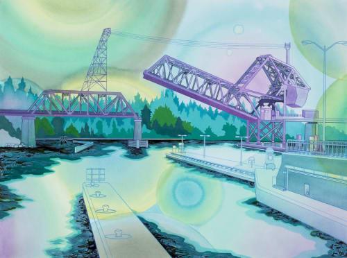 Paintings by Elizabeth Gahan seen at Linda Hodges Gallery, Seattle - Thruway