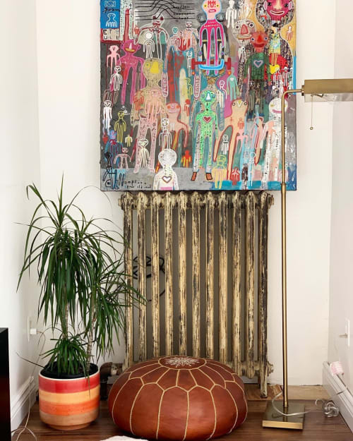 Paintings by Oli Goldsmith seen at Leisse Wilcox's Home, Cobourg - The Team