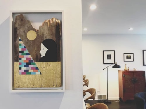 Paintings by Adrian Landon Brooks seen at Private Residence, Riverside - Painting in Wood