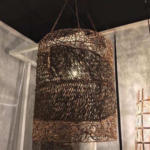 "Lamps by Hacienda Crafts Company, Inc. seen at World Trade Center, Pasay - ""Tapestry"" Hanging Lamp"