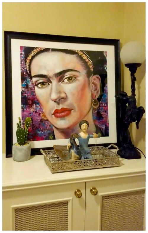 Paintings by Tanya Cole seen at Private Residence, Ballarat - Facing Frida