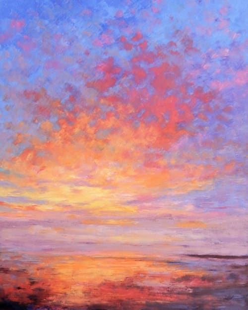 "Paintings by Deborah Randall seen at Private Residence, Boston - ""Beach At Dawn"""