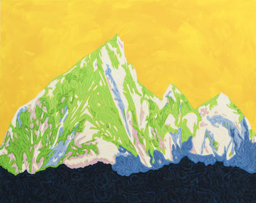 Paintings by Kate Wilson Fine Art seen at Private Residence, Carlisle - Altitude Shift