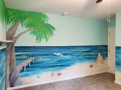 Murals by Bobbi Plentovich Lewis seen at Private Residence, Durham - Ariana's beach