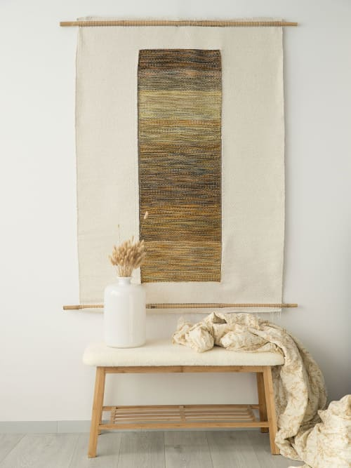 Kauwela - Geometric Tapestry Wall Hanging   Wall Hangings by Lale Studio